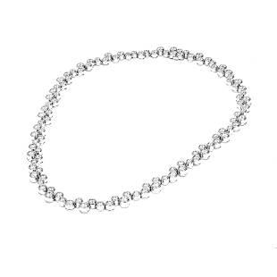Tiffany & Co. Bubbles Platinum 10CT Diamond Necklace