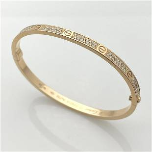 Cartier Diamond Love Bracelet Size 17