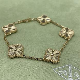 Van Cleef & Arpels 18k Gold 5 Motif Bracelet