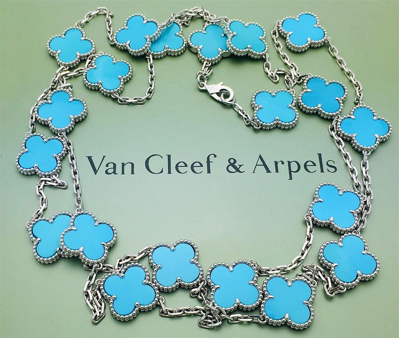 Van Cleef & Arpels Vintage Alhambra 18K Long Necklace