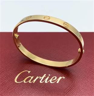 Cartier Love Bracelet 18K Yellow Gold Size17