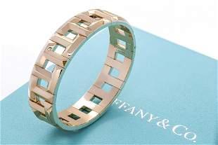 Tiffany & Co. Tiffany T True Hinged Bracelet in 18k