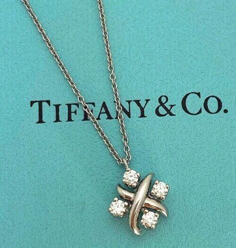 Tiffany & Co Schlumberger 0.21 TCW Diamond Plat Pendant