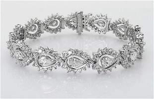 14k Gold 12.20 TCW E-F Diamond Bracelet & Earrings Set