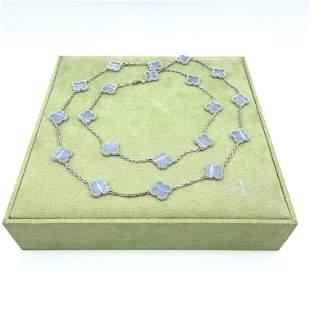 Van Cleef & Arpels Magic Alhambra Chalcedony Necklace