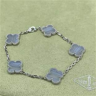 Van Cleef & Arpels Chalcedony 5 Motif Bracelet