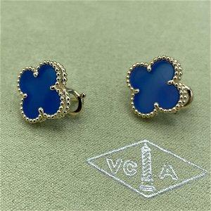 Van Cleef & Arpels Blue Agate Earrings
