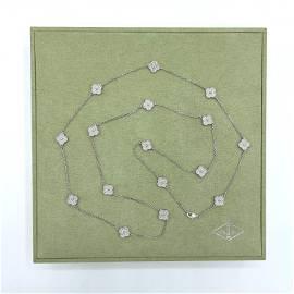 Van Cleef &  Arpels Alhambra 16 Motif Diamond Necklace
