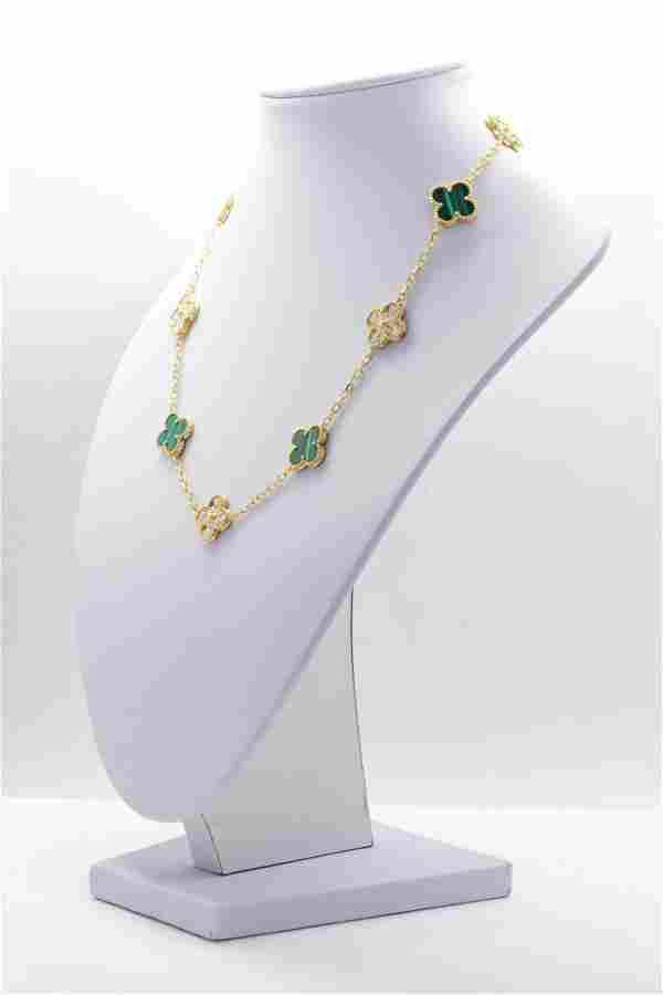 VCA Vintage Alhambra necklace, 10 motifs 18K Yellow