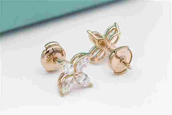 Tiffany & Co 18K Yellow Gold 1.60ct Diamond Earrings