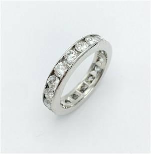 Tiffany & Co PT 950 2ct Diamond 4.2mm Band Ring