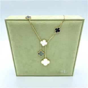 Van Cleef & Arpels Alhambra Onyx Pearl Necklace