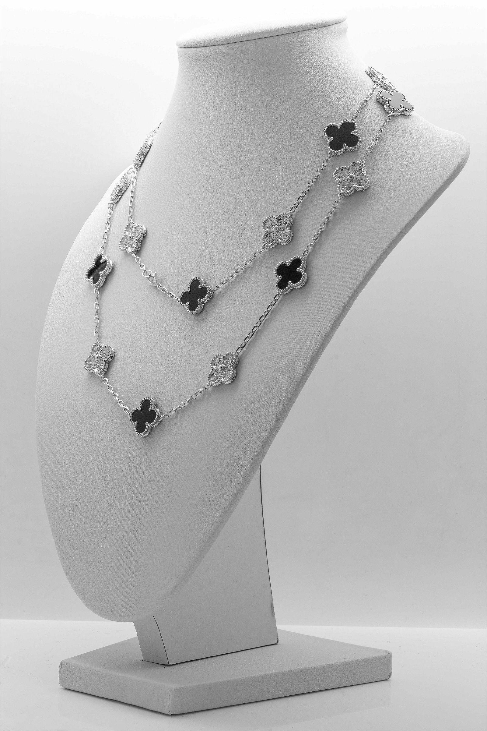 Van Cleef & Arpels Vintage Alhambra 20 Motif Necklace
