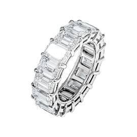 GIA Certified Emerald Cut Diamond 11.91ct Platinum