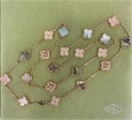 Van Cleef & Arpels 18K Rose Gold Vintage Alhambra long