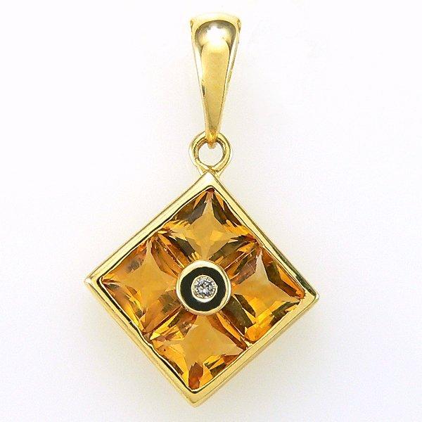 2012: 14KY CITRINE DIAMOND PENDANT