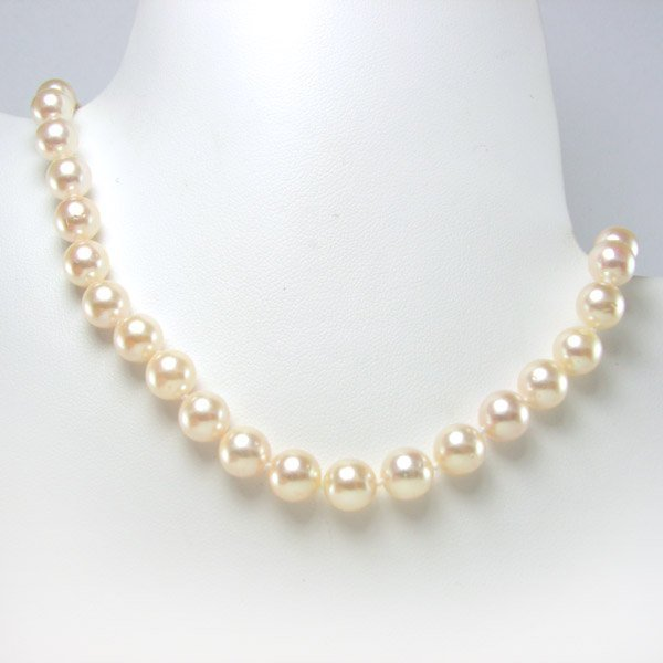 """11023: 10KW 6.5-7MM AKOYA PEARL NECKLACE 18"""""""