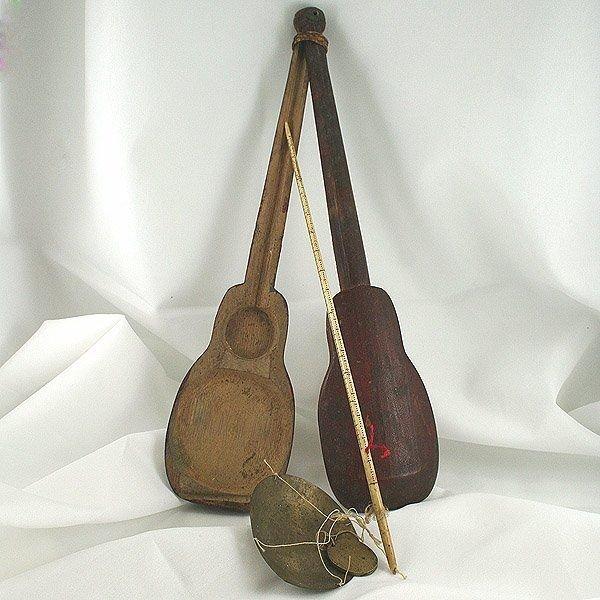 13206: Antique Opium Scale Orig Wdn Case 310x74x25mm