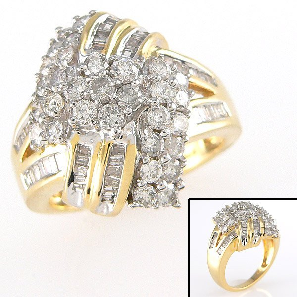 4009: CERTIFIED 14KT DIAMOND RING SZ 6.5 1.50TCW