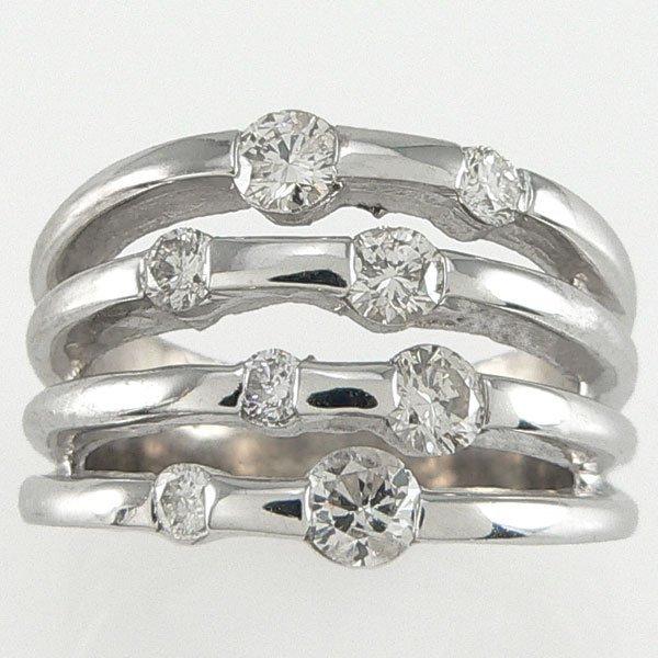 1361: 14KT  DIAMOND RING 1.10TCW SZ 7