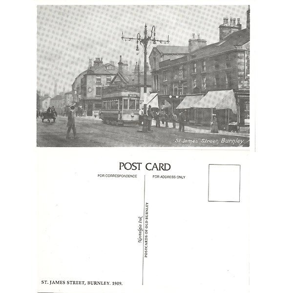 13013: ST. JAMES' STREET, BURNLEY POSTCARD