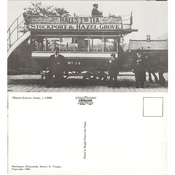 13016: HORSE-DRAWN TRAM-1900 POSTCARD