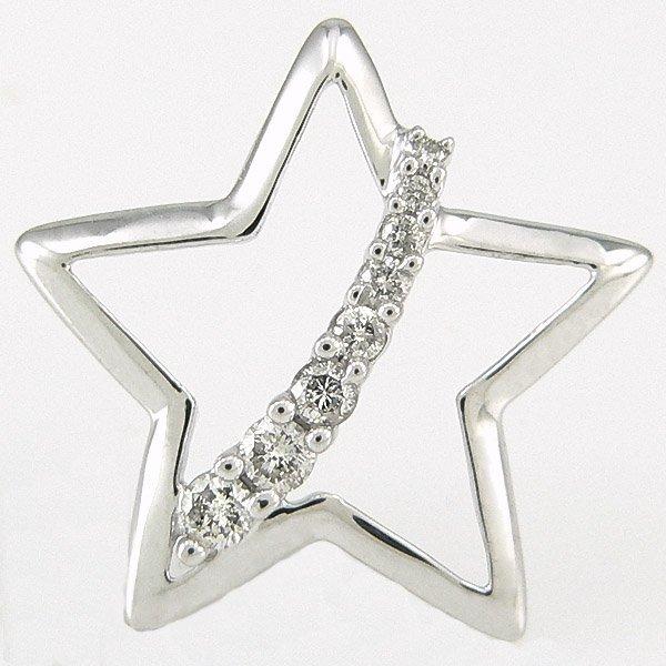 1401100046: 10KT DIAMOND STAR PENDANT 0.20CTS