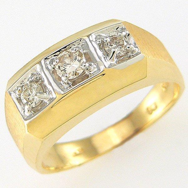 412141637: 14KT MENS DIAMOND RING SZ 8.5 0.35TCW