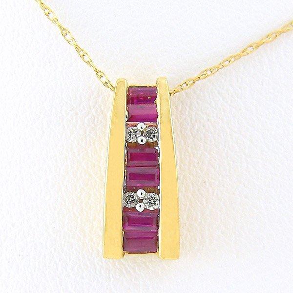 301100059: DIAMOND RUBY PENDANT 0.22TCW 10KT