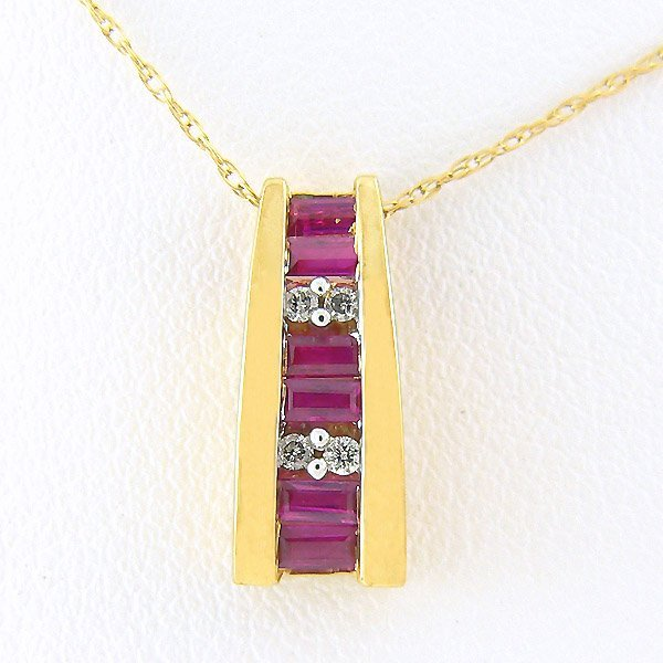 501100059: DIAMOND RUBY PENDANT 0.22TCW 10KT