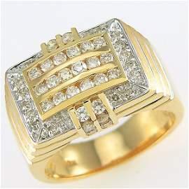 412141711: 14KT MENS DIAMOND RING SZ 10.5 1.35TCW