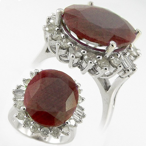 505111365: RUBY & DIAMOND RING 11.38 CTW 14KT. GOLD
