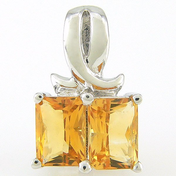 20023: 14KT FANCY CITRINE PENDANT 1.64TCW