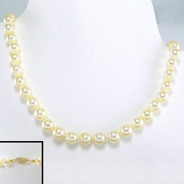 """40005: 10KY 6-6.5MM AKOYA PEARL NECKLACE 18"""""""