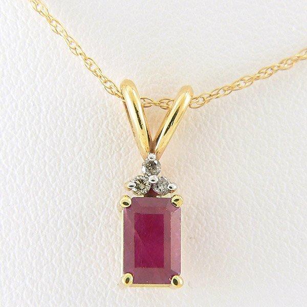 10027: DIAMOND RUBY PENDANT 0.66TCW 14KT