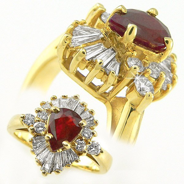41363: RUBY & DIAMOND RING 2.04TCW 14KT SZ 6.25