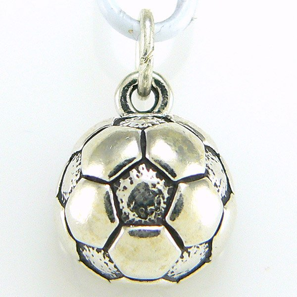 40010: WINDSOR-STERLING 1/2 SOCCER BALL CHARM .925 SS