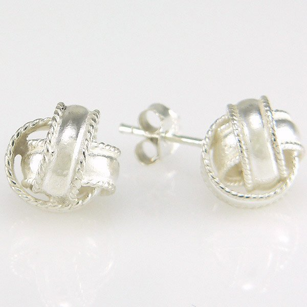 40018: WINDSOR-STERLING TWISTED LOVE KNOT EARRINGS