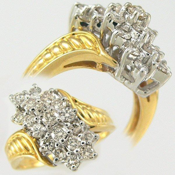 52036: WATERFALL DIAMOND RING 1.0CT 14KT SZ 6.25