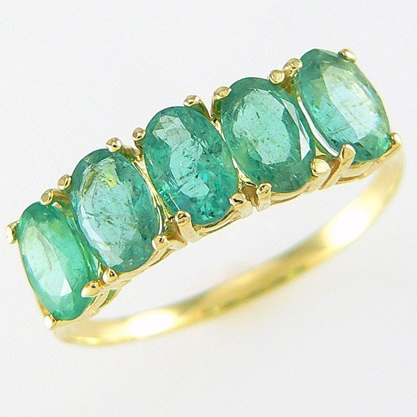 50001: 10KT EMERALD RING 2.50CTS SZ 7.5