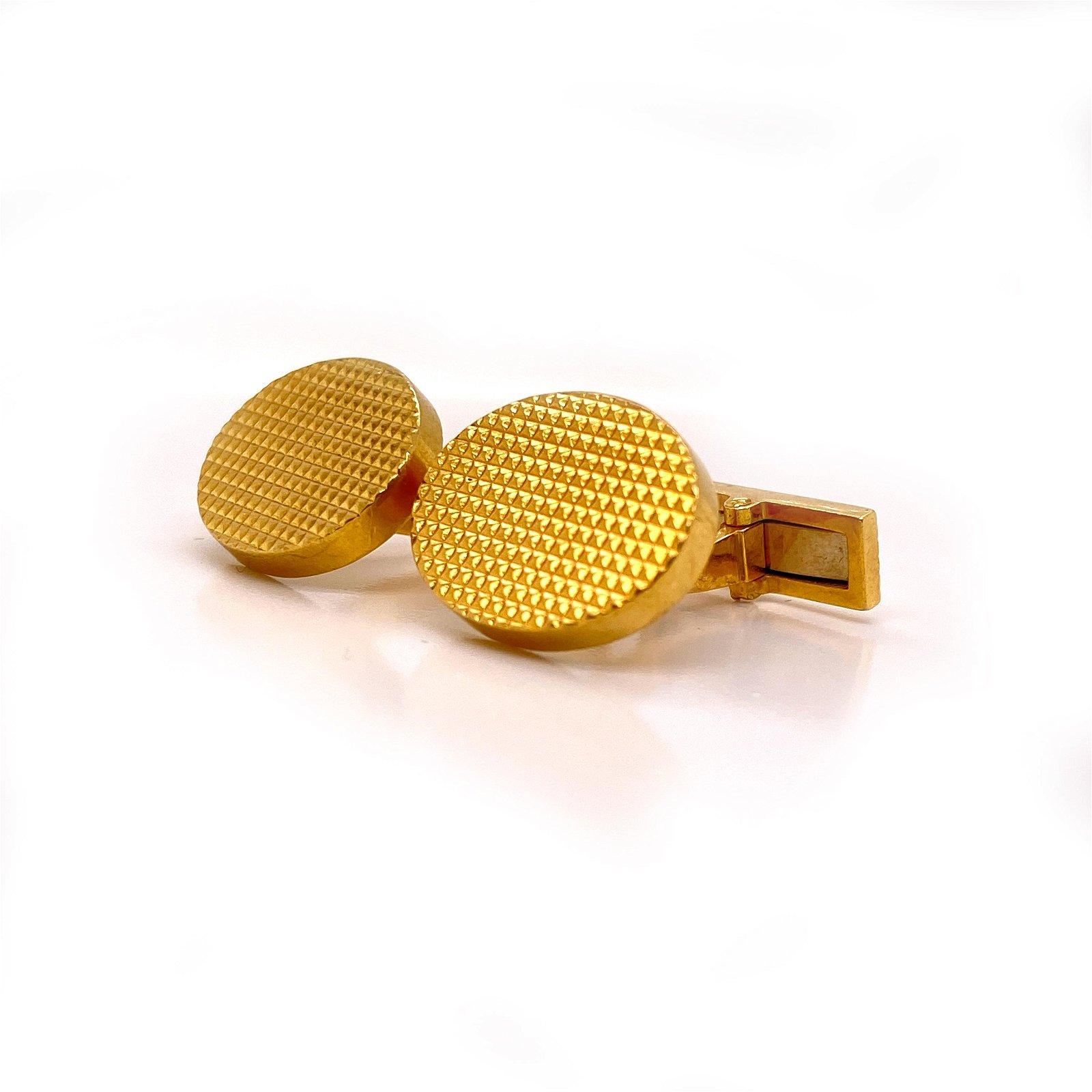 18 k yellow Gold French Cufflinks
