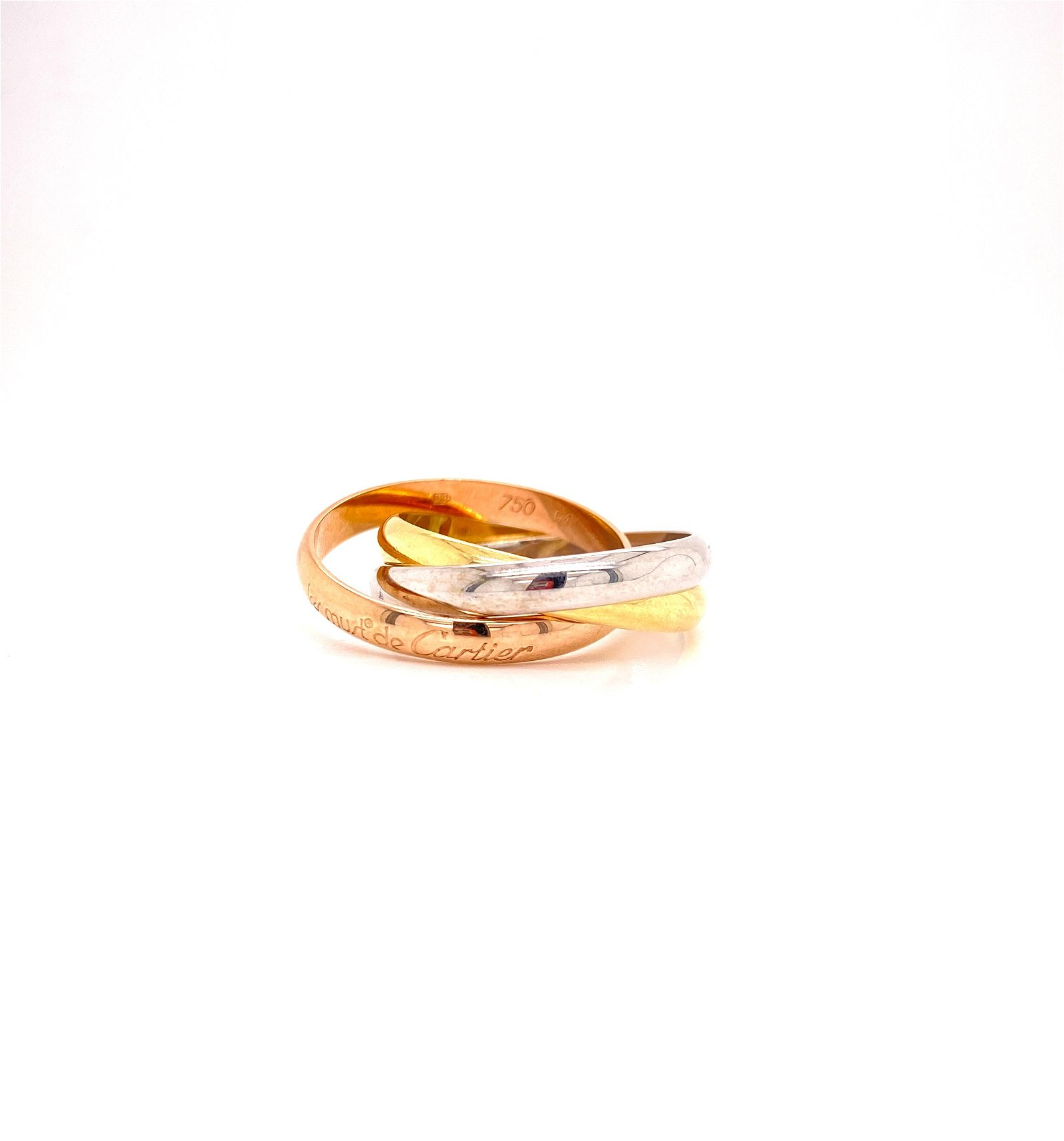Cartier Trinity Ring, 18k White, yellow, & Rose Gold