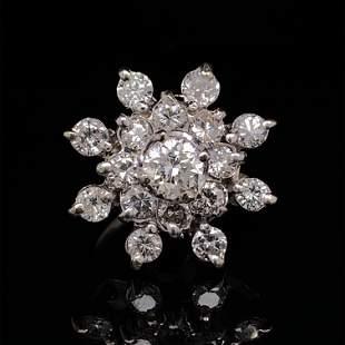 Retro 18k Diamond Star Ring