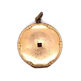 Old Gold Filled Garnet Locket