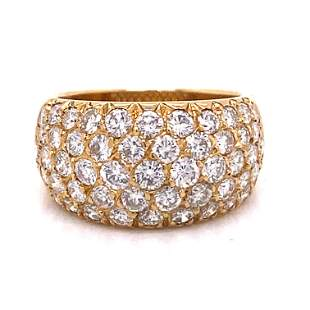 VAN CLEEF & ARPELS Paris 18k Diamond Ring