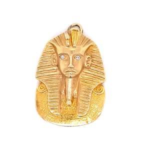 14k Tutankhamun Face Pendant