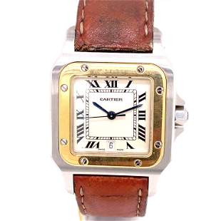 CARTIER Santos Leather Band