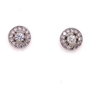 Platinum Diamond Earring Stud
