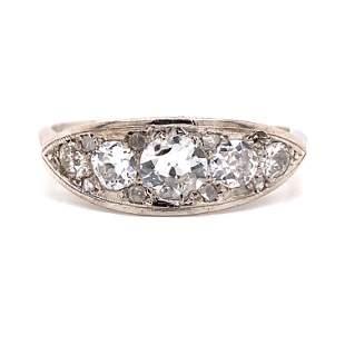 1920's Platinum Diamond Ring