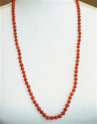 1940's Red Coral Necklace
